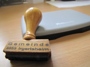 Stempel der ehemaligen Gemeinde Irgertsheim