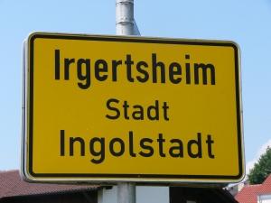 Ortstafel von Irgertsheim