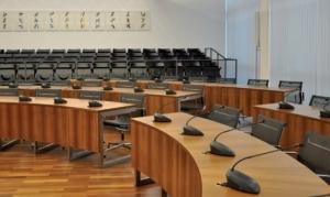 Sitzungssaal des Stadtrats im Neuen Rathaus (Foto: Handbuch des Ingolstädter Stadtrats 2014 bis 2020, Seite 10)