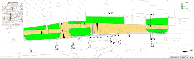 Vorentwurf: Umgestaltung der Dorfmitte Irgertsheim (Quelle: Tiefbauamt der Stadt Ingolstadt)