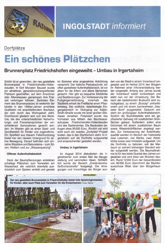 INGOLSTADT informiert (Ausgabe vom 5. August 2016)