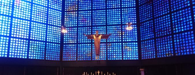 Christusdarstellung von Karl Hemmeter in der Berliner Kaiser-Wilhelm-Gedächtniskirche (Foto vom April 2016)